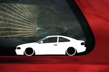 2x LOW Volvo C70 Coupe 2.0 /2.3 / 2.5 T5 Turbo car silhouette outline stickers (1)